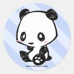 Panda de Weetle Pegatina Redonda