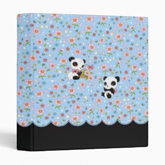 "Panda Dear 1"" binder (baby blue)"