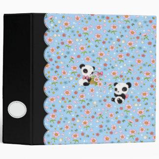"Panda Dear 2"" binder (baby blue)"
