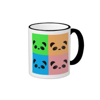 Panda del arco iris taza de dos colores
