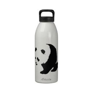 Panda del arte pop botellas de agua reutilizables