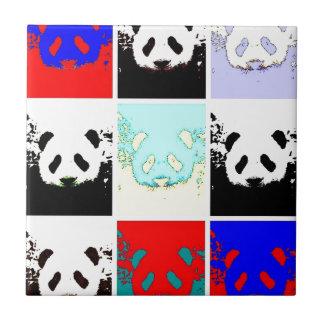 Panda del arte pop azulejo cuadrado pequeño