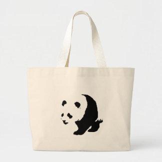 Panda del arte pop bolsa de tela grande