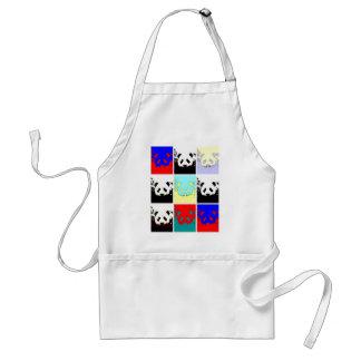 Panda del arte pop delantal