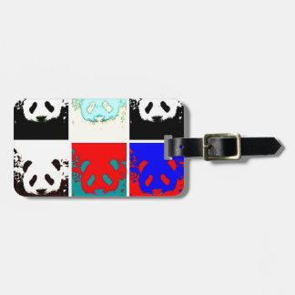 Panda del arte pop etiqueta de equipaje