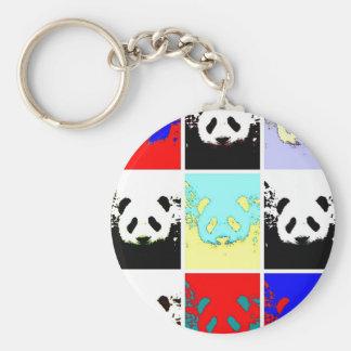 Panda del arte pop llaveros