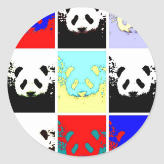 Panda del arte pop pegatina redonda