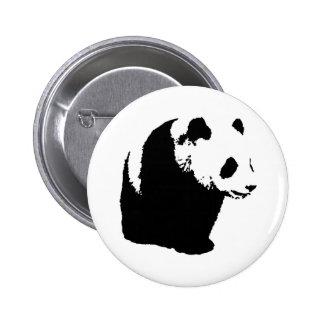 Panda del arte pop pin redondo de 2 pulgadas