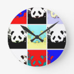 Panda del arte pop reloj de pared