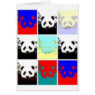 Panda del arte pop tarjeta de felicitación