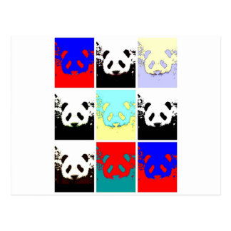 Panda del arte pop postal