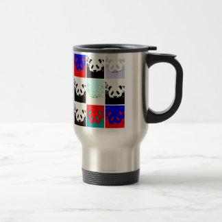 Panda del arte pop tazas de café