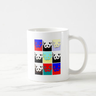 Panda del arte pop taza de café