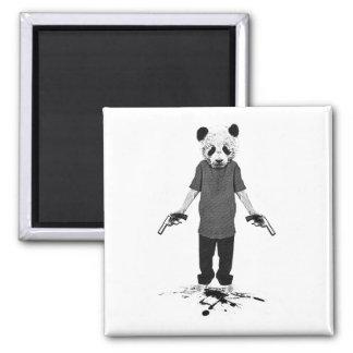 Panda del asesino imán cuadrado