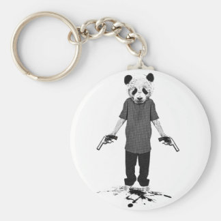 Panda del asesino llavero redondo tipo pin