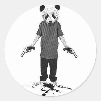 Panda del asesino pegatina redonda
