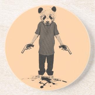 Panda del asesino posavasos para bebidas