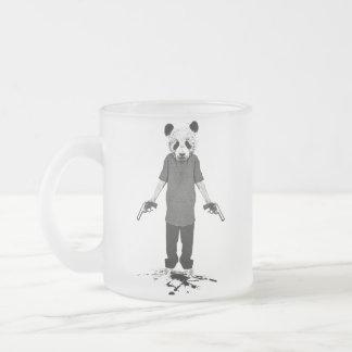Panda del asesino taza de cristal