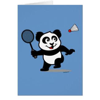 Panda del bádminton tarjeta de felicitación