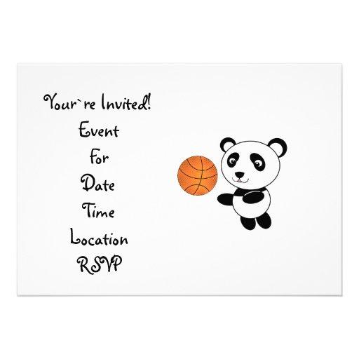 Panda del baloncesto invitacion personal