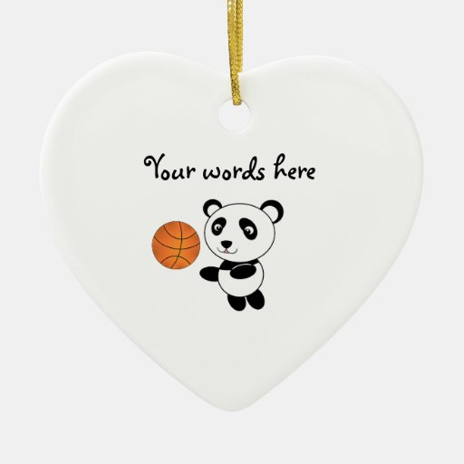 Panda del baloncesto ornamentos de reyes