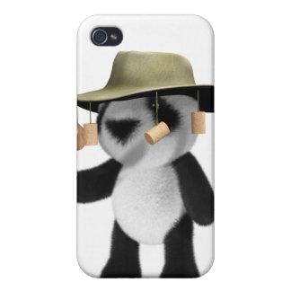 panda del bebé 3d en Australia iPhone 4/4S Carcasas