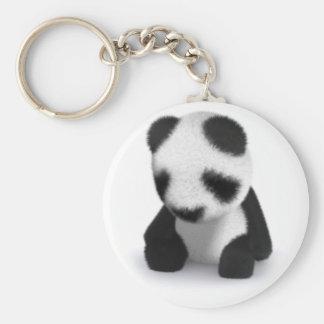 panda del bebé 3d soñolienta llavero personalizado
