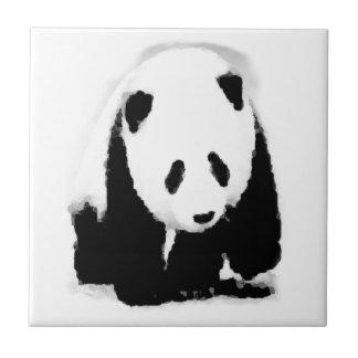 Panda del bebé del arte pop azulejo cuadrado pequeño
