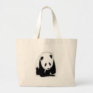 Panda del bebé del arte pop bolsa de tela grande