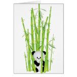 Panda del bebé en el bosque de bambú tarjeton