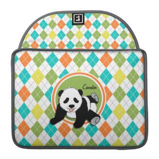 Panda del bebé en el modelo colorido de Argyle Funda Macbook Pro