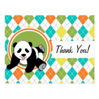 Panda del bebé en el modelo colorido de Argyle Postal