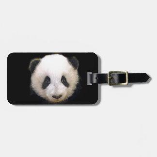 Panda del bebé etiqueta para maleta