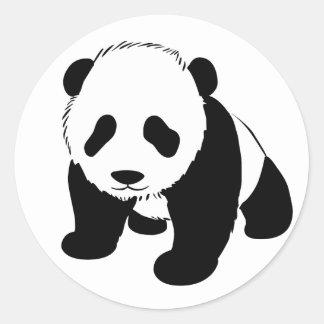 Panda del bebé etiquetas redondas