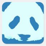 Panda del bebé pegatina cuadrada