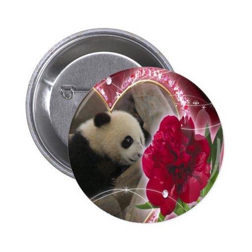 Panda del bebé pin redondo 5 cm