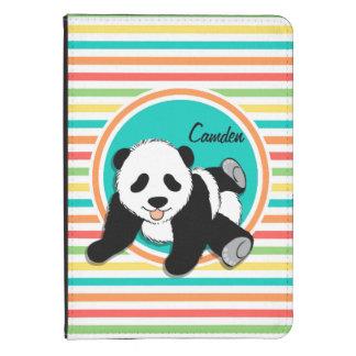 Panda del bebé Rayas brillantes del arco iris Funda Para Kindle