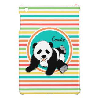 Panda del bebé Rayas brillantes del arco iris