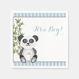 Panda del bebé, rayas servilletas de papel