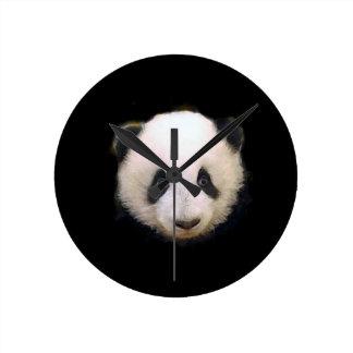 Panda del bebé reloj redondo mediano