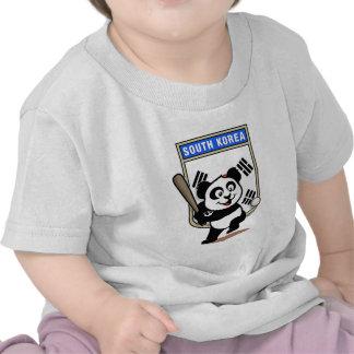 Panda del béisbol de la Corea del Sur Camisetas