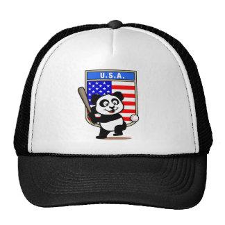 Panda del béisbol de los E.E.U.U. Gorros Bordados