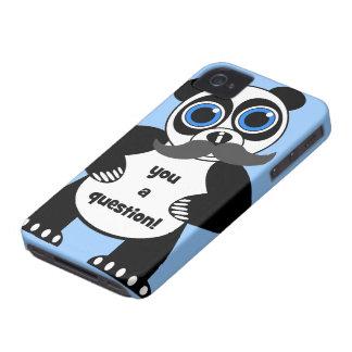 panda del bigote Case-Mate iPhone 4 funda