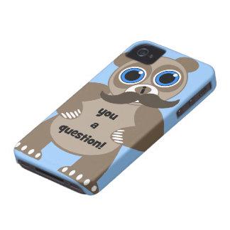 panda del bigote iPhone 4 protector