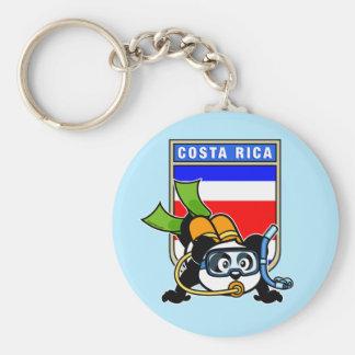 Panda del buceo con escafandra de Costa Rica Llaveros Personalizados