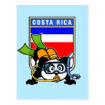 Panda del buceo con escafandra de Costa Rica Postal