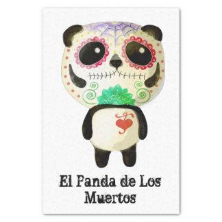 Panda del día de los muertos papel de seda pequeño