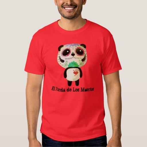 Panda del día de los muertos playera