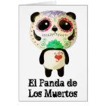 Panda del día de los muertos tarjeta de felicitación
