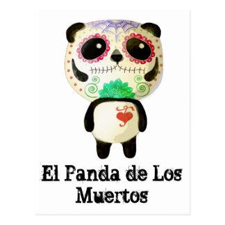 Panda del día de los muertos tarjeta postal